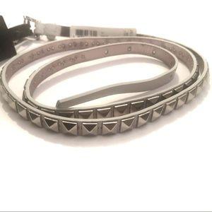 Michael Kors light grey studded belt
